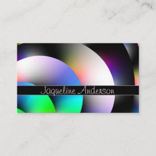 Shiny business cards zazzle colorful shiny discs business card colourmoves