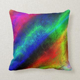 Colorful Shiny Metallic Electric Design Pillow