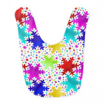 Colorful Shiny Snowflake Pattern Baby Bib