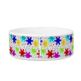 Colorful Shiny Snowflake Pattern Bowl