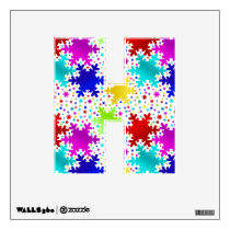 Colorful Shiny Snowflake Pattern Wall Decal