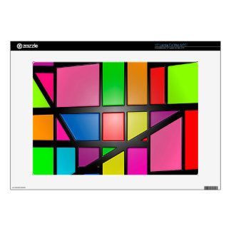 Colorful shiny Tiles Decal For Laptop