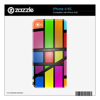 Colorful shiny Tiles iPhone 4S Skins
