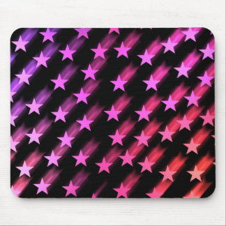 Colorful shooting stars mouse pad