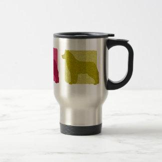 Colorful Siberian Husky Silhouettes Travel Mug