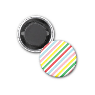 Colorful Sideway Lines Refrigerator Magnet