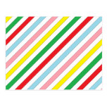 Colorful Sideway Lines Postcards