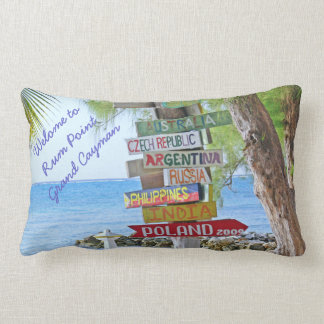 """COLORFUL SIGNS AT RUM POINT, GR. CAYMAN"" LUMBAR PILLOW"