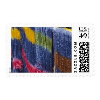 Colorful silk threads, Mandalay, Myanmar Postage Stamp