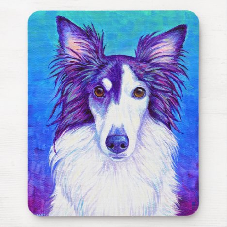 Colorful Silken Windhound Dog Mouse Pad