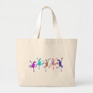 Colorful Silly Filly Accessories Large Tote Bag