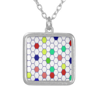 Colorful Silver Plated Necklace