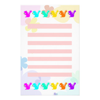 Colorful sima lith stationery