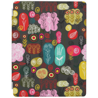 Colorful Simple Hand Drawn Doodle Flowers Pattern iPad Smart Cover