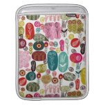 Colorful Simple Hand Drawn Retro Flowers Pattern iPad Sleeves