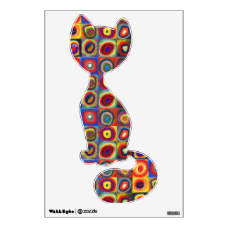 Colorful Sitting Cat Wall Sticker