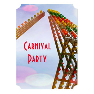 Colorful Sizzler Ride Carnival Theme Party Card