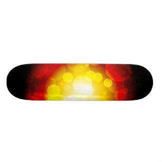 Colorful skateboard layout