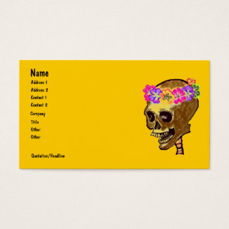 Colorful Skeleton Skull Business Card