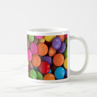 Colorful skittles candy coffee mug