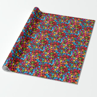 Colorful skittles candy wrapping paper