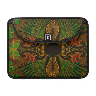 Colorful Skull and Wings tattoo design with lotus MacBook Pro Sleeve