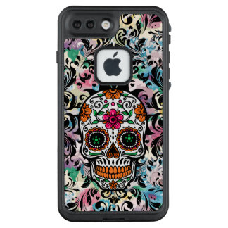 Colorful Skull & Black Swirls LifeProof FRĒ iPhone 7 Plus Case