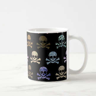 Colorful Skull & Cross Bones Coffee Mug