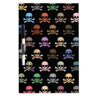 Colorful Skull & Cross Bones Dry-Erase Whiteboards