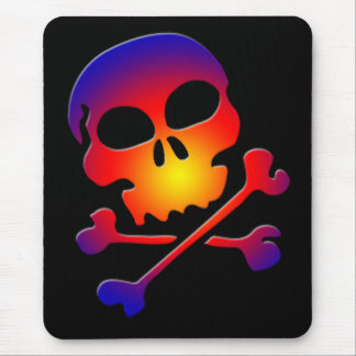 COLORFUL SKULL & CROSSBONES MOUSE PAD