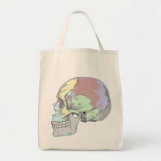 COLORFUL SKULL DESIGN Grocery Tote