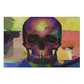 Colorful Skull Faux Canvas Print
