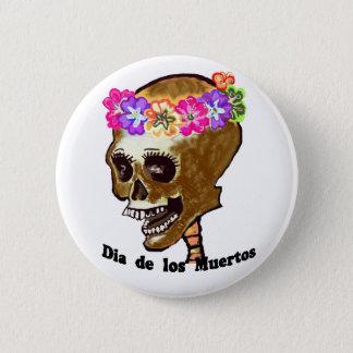 Colorful Skull Pinback Button