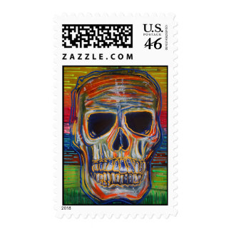 Colorful Skull Postage