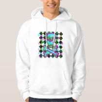 Colorful Skull Swirls Diamond Pattern Hoodie