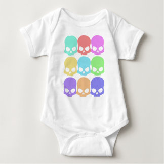 Colorful Skulls Baby Bodysuit