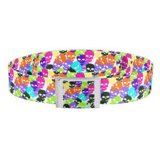 Colorful Skulls Belt