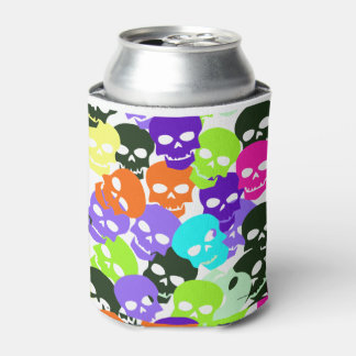 Colorful Skulls Can Cooler