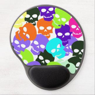 Colorful Skulls Gel Mouse Pad