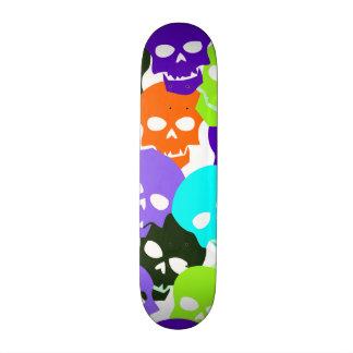 Colorful Skulls Skateboard