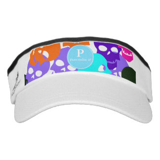 Colorful Skulls Visor