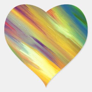 Colorful Sky Heart Sticker