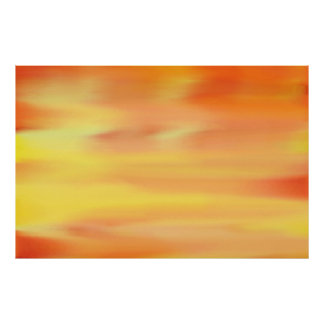 COLORFUL SKY PAINT RAINBOW ART 3 POSTER