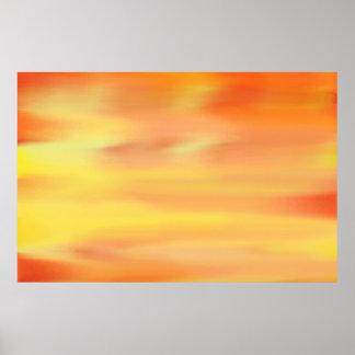 COLORFUL SKY PAINT RAINBOW ART 3 PRINT