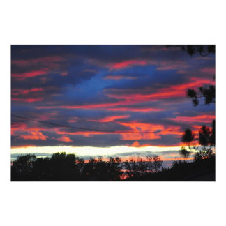 Colorful sky photo print
