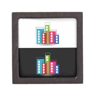 Colorful skyscrapers premium jewelry boxes