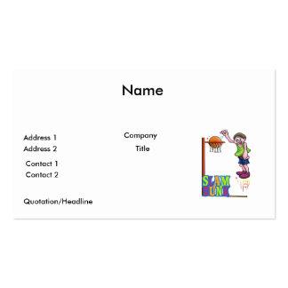 colorful slam dunk basketball kid design business card