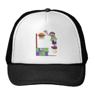 colorful slam dunk basketball kid design trucker hat