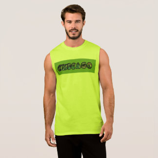 Colorful Sleeveless Chicago Waterfront Tee
