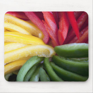 Colorful Sliced Peppers Mousepad